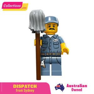 LEGO 71011 Janitor - Sealed Pack - Series 15 Minifigure mini figure #9 Number 9