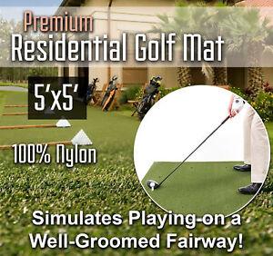 Premium Residential Home Practice Range Golf Mat - 5 feet x 5 feet