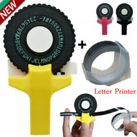 Manual Embossing Label Maker Letter Typewriter Printer Refill Tape Cutting HOT