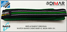 REPLACEMENT ORIGINAL  WATCH BAND CASIO BABY-G BGM-100V.3V.