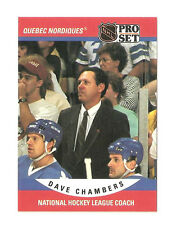 1990-91 Pro Set #675 Dave Chambers NHL Coach - NM-MT - Nordiques Hockey Card
