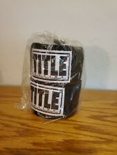 Title Boxing Traditional Weave Handwraps-Black