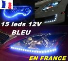 LOT DE 2 KITS ECLAIRAGE 15 LEDS ULTRA PUISSANT 12v BLEU TUNNING MOTO VOITURE