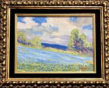9 X 12 Painting on Board by Carl Hoppe 'Texas Bluebonnets' 1947