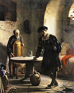 Art Oil painting carl heinrich bloch - the imprisoned danish king christian II