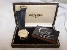 Longines 9ct gold Men's Watch M/C 12.68Z with original box