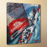 HD living room decor abstract art painting Sailing on the sea canvas print 10x12