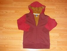 Kids Hoodie Zipper Jacket Size Large 10/12 New Without Tags Color Burgundy red