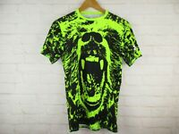 Under Armour Heat Gear Compression Boys size L Neon and Black Bear Tee