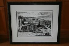 """LIMITED EDITION MOISHE SMITH (1929-1993) """"MOUNT OF OLIVES"""" FRAMED ART PRINT 6/60"""