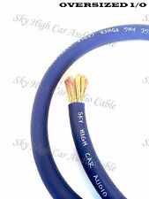 1/0 Gauge AWG BLUE Power Ground Wire Sky High Car Audio Cable Sold By The Foot