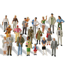 20pcs Model Trains O Scale Painted Figures 1:43 Scale Standing People P4309