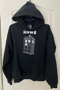 BBC Doctor Who, Men's Doctor Who Hoodie, Tardis Pullover, Size Medium, BBC Brand