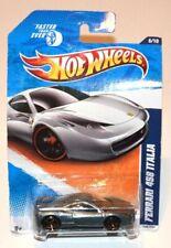 Hot Wheels Ferrari 458 Italia Faster Than Ever Silver 6/10 New