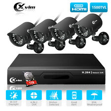 XVIM Home security Camera System Outdoor Phone Monitoring 8CH CCTV DVR 1TB HDD