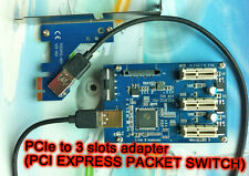 PCI Express Port Multiplier   PCIe x1 to external 3 PCIe slots riser card adapte