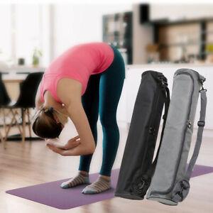 Lightweight Nylon Carry Backpack Adjustable Strap Mesh Bag for Yoga Mat