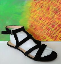 French Connection black suede ankle strap sandals size 9.5/40