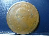 NS-2C2 One Penny token 1840 5 fringes Canada Nova Scotia PNS-601 Breton 873