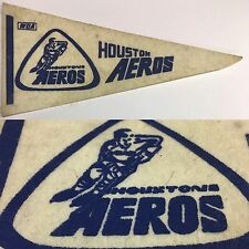 Vintage 1972 Houston Aeros Texas WHA 4x8.75 MINI Pennant NHL Hockey WHA