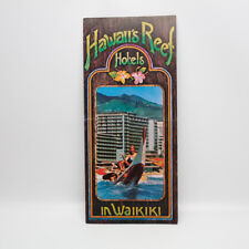 Vintage Cinerama Hawaii Hotels Hawaii's Reef Hotels Waikiki Tourist Travel Guide