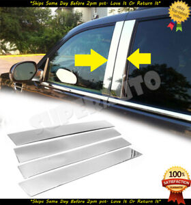 For 2007-2014 CADILLAC ESCALADE Chrome STAINLESS STEEL Pillar Posts  4pc Set