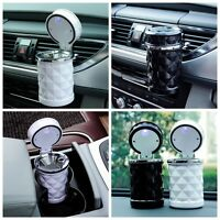 Mini LED Lampe Cigarette Cendrier Poubelle Portable Voiture Auto Camion Ashtray