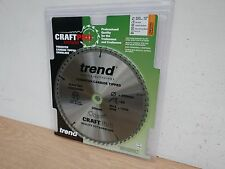 TREND 250MM 60T TCT TABLE MITRE SAW BLADE CSB/25060 DEWALT MAKITA BOSCH ETC
