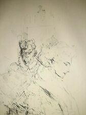 Authentic Henri Toulouse-Lautrec Crayon Lithograph Blanche Et Noire Blind Stamp