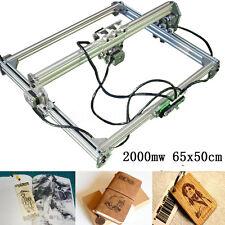 2000mw 65x50cm Laser Engraver CNC Desktop Wood Paper Logo Cutter Engraving DIY