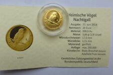 20 EURO Nachtigall Prägestätte A Goldmünze Deutschland Heimische Vögel