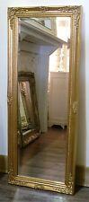 "Cannes Gold Shabby Chic Full Length Antique Dress Mirror 52"" x 16"" (132 x 40cm)"