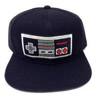 BLACK NINTENDO NES CLASSIC CONTROLLER SNAPBACK HAT CAP SUPER MARIO BROS. WORLD