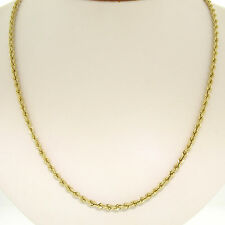 """14k Solid Yellow Gold 18"""" 3.20mm Rope Chain Necklace w/ Barrel Clasp 13.9g"""