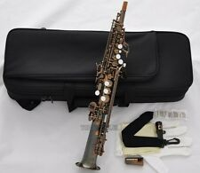 Professional Antique Sopranino Saxophone Eb sax Low Bb high F# Italian pads NEW