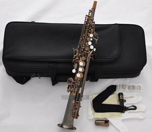 Professional Antique Sopranino Saxophone Eb sax Low Bb high F# Italian pads NEW