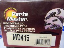 Parts Master MD415 Semi-Metallic Brake Pad Set L@@K FREE Ship!!