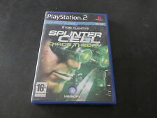 PS2 Play Station 2 Tom Clancy's SPINTER CELL Chaos Theory