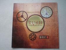 RUSH 2011 Time Machine TOUR PROGRAMME BOOK CONCERT Hard Rock