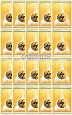 20 Basic XY/Black and White LIGHTNING Energy Pokemon Cards Yellow/Electric-Type