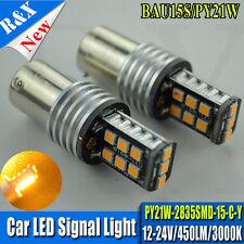 2x  AMBER CANBUS ERROR FREE PY21W 581 BAU15s 2835 LED CAR TURN SIGNAL LIGHT BULB