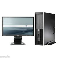 "FAST HP DESKTOP PC SFF INTEL i5 CPU 320GB HDD 4GB DDR3 19"" Monitor TFT  Win 7"