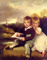 CHENPAT606 twins Brother and sister painting home art oil painting on canvas