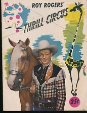 ROY ROGERS' THRILL CIRCUS 1947 Program with Extras LOUISVILLE, KY Coca-Cola Ad