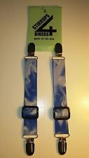 STIRRUPS 4 BIKERS.....BLUE SMOKE  .. MOTORCYCLE RIDER BUNGEE PANT CLIPS / CLAMPS