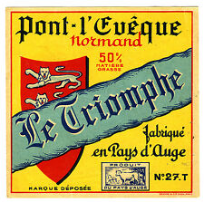Label Old Bridge THE BISHOP, The Triumph, New, Manufactured IN Normandy