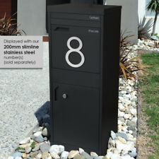 LIMITED QTY - Black PARCEL A4 SECURE Dropbox Mail Letterbox MAILBOX Post Pillar