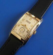 Vintage 1930s Mans Gruen *CURVEX* Hand Winding Original Silver Dial Serviced
