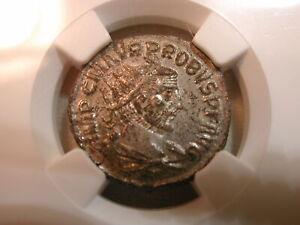 Probus AD 276-282 ROMAN EMPIRE BI Aurelianianus rv Victory crowns emperor