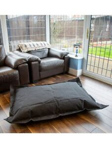 Black Bean Bag Lounger Cushion Pillow for Indoor & Outdoor 100% Water Resistant